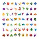 Big vector set of drawings custom characters Royalty Free Stock Image