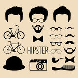 Big vector set of dress up constructor with different men hipster haircuts, glasses, beard etc. Flat faces icon creator. Big vector set of dress up constructor Royalty Free Stock Image