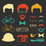 Big vector set of dress up constructor with different men hipster haircuts, glasses etc. Male faces icon creator. Big vector set of dress up constructor with royalty free illustration