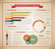 Big Vector set of Infographic elements Stock Photography