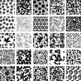 Big vector set of twenty five seamless floral patterns Royalty Free Stock Photography