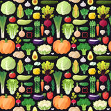 Big vegetables seamless vector pattern. Modern flat design. Royalty Free Stock Images