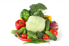 Big vegetarian pile Royalty Free Stock Photos