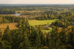 Big view over country Royalty Free Stock Photos