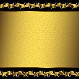 Big vintage golden frame (vector) Royalty Free Stock Photography