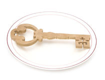 Big vintage key Royalty Free Stock Image