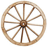 Big vintage rustic wagon wheel Stock Photography