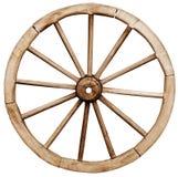 Big vintage rustic wagon wheel Stock Photography