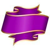Big violet ribbon Royalty Free Stock Photography