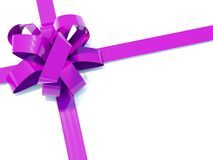 Big violete bow Stock Images