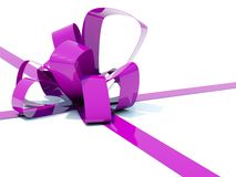 Big violete bow Royalty Free Stock Photo