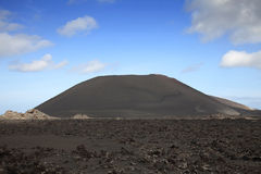 Big volcanic mountain Royalty Free Stock Photo