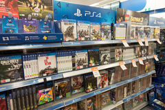 Big W, Playstation games, Australia Stock Photo