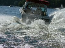 Big Wake Boating Stock Photography