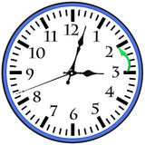 BIg Wall Clock. Goint to winter time Stock Image