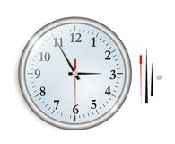 A big wall clock vector Stock Images