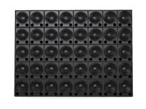 Big wall of hifi subwoofer speakers Royalty Free Stock Photos