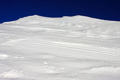 Big wall of ice and snow in Retezat mountains, Romania Stock Photography