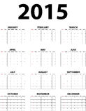 Big wall monthly calendar for 2015. Calendar for 2015 isolated on white background. Starts Sunday vector illustration