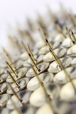 A Big Wall of Thumbtacks In A White Box - Crooked Angle  #1 Stock Image