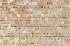 Big wallpaper rock cube block cement castle wall architecture. Pattern Royalty Free Stock Photo