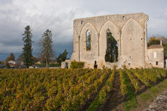 The Big Walls of St. Emilion Stock Photography
