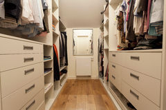 Big wardrobe in new house Stock Photography