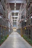 Big warehouse. With perspective lines Stock Image