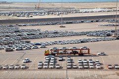 Big warehouse of cars Royalty Free Stock Images
