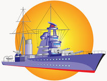 Big warship Royalty Free Stock Photography