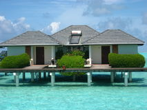 Big water bungalow Royalty Free Stock Photography