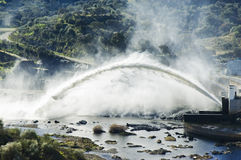 Big water discharge Stock Images