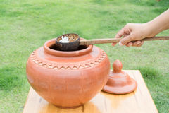 Big water earthen jar Stock Image