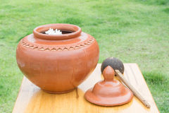Big water earthen jar Royalty Free Stock Photography