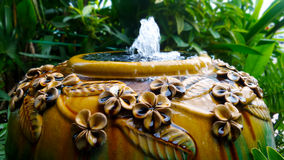 Big water jar fountain Royalty Free Stock Images