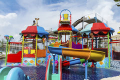 Big water park for children Royalty Free Stock Photography