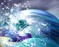 Big Water Waves Stock Photography
