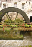 Big water-wheel turning Royalty Free Stock Images