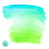 Big watercolor blot. Vector. Big watercolor blot isolated on white background. Colorful gradient hand drawn spot for texture, fabric, design, art Royalty Free Stock Photo