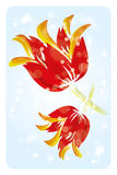 Big watercolor tulip flowers. Tulip illustration in watercolor optic - art poster royalty free illustration