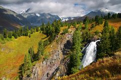 Big waterfall. Altay Royalty Free Stock Photography
