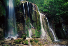 Big waterfall in Beusnita natural park, Romania Stock Photo