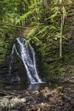 Big waterfall in carpathian forest Stock Images