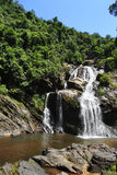 Big waterfall. A big waterfall in forest Stock Photography