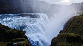 Iceland Waterfall Gullfoss stock image
