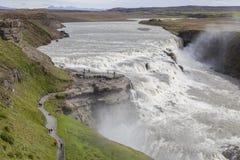 Big Gullfoss waterfall in Iceland Stock Photography
