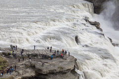 Big Gullfoss waterfall in Iceland Stock Photo