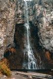 Big Waterfall long exposure in Yellowstone National Park stock photos
