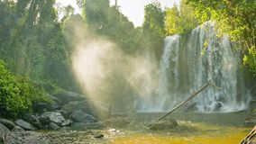 Big waterfall in Phnom Kulen National Park. Cambodia, Siem Reap Province stock video