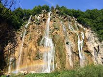 Big waterfall Stock Images